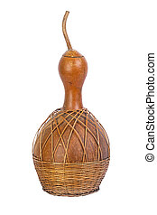 dried bottle gourd used for traditional canteen for drinking...