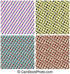 abstract background collection vector illustration