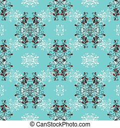 flowers on a blue background vector seamless pattern