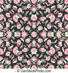 pink flowers on dark background vector illustration