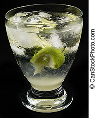Cocktails Collection - Gimlet on black - Ingredients: 2 oz...