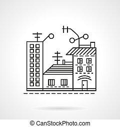 Residential ares line vector icon