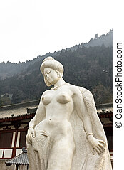 Chinese imperial concubine statue. - Beautiful Chinese...