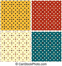 circles seamless pattern collection of retro style