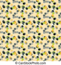 Abstract stars on a yellow background