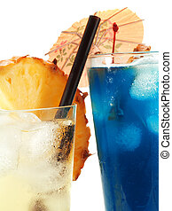 Cocktails Collection - Vanilla Sky and Blue Hawaiian -...