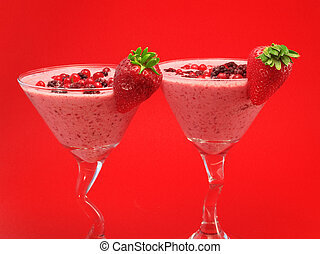 Cocktails Collection - Summer Berry Smoothie - Ingredients:...