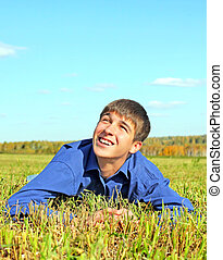Happy Teenager in the Field - Happy Teenager in the Autumn...