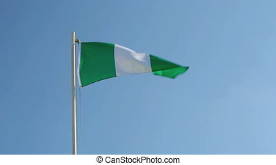 Nigerian flag in slow motion