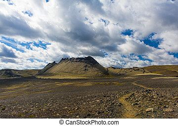 Laki - Lakagigar is a row of appox 130 volcanic craters on...
