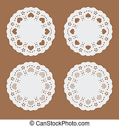 coaster paper,perforated paper text
