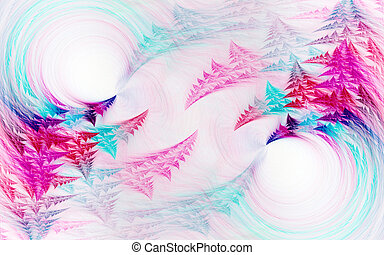 Abstract fractal background on white