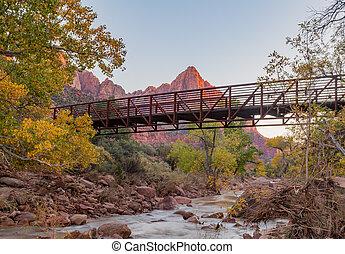 Zion National Park Landscape - a fall landscape along the...