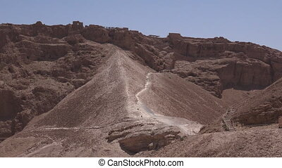 Masada stronghold in the Judaean Desert, Israel - MASADA,...