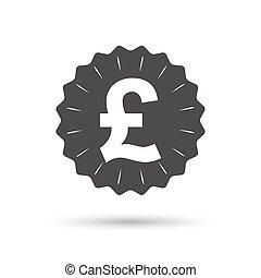 Pound sign icon GBP currency symbol - Vintage emblem medal...
