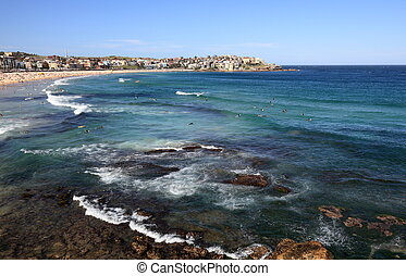 Near Bondi Beach, Sydney, Australia - View to Bondi Beach...