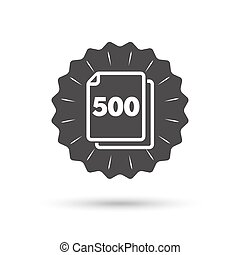 In pack 500 sheets sign icon 500 papers symbol - Vintage...