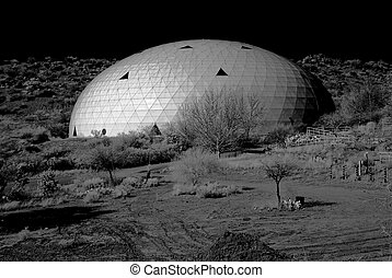 Arizona Biosphere - Monochrome presentation of the biosphere...