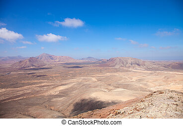 Fuerteventura, view west from Montana Roja at the North of...