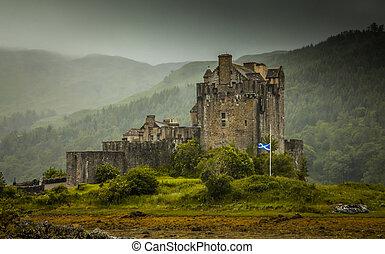 Eilean Donan Castle Highlands Schottland Burg Ruine