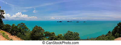 Koh Samui And Five Islands - A view off the west coast of...