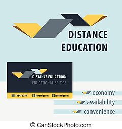 Distance education, the study of the logo Educational Bridge...