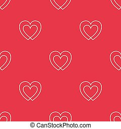 Seamless pattern with two hearts.