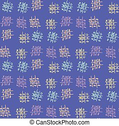Seamless pattern tic-tac-toe Children pattern for the fabric...