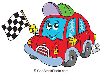 Car race starter - vector illustration