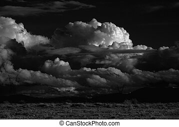 Desert Storm - Monochrome Desert storm over the southwestern...