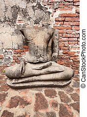 Buddha statue at Wat Mahathat, archaeological sites and...