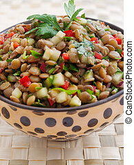 lentilha, salada