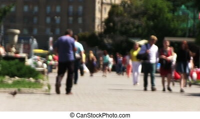 Pedestrians In Downtown. - NOVOSIBIRSK, RUSSIA - June 23,...