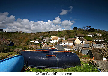 Cadgwith village and housing Cornwall