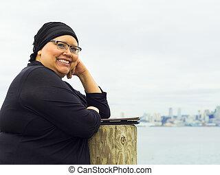 mujer, goza, Estilo de vida, Post-Surgery,