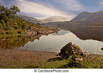 Borrowdale - Derwent Water, Borrowdale, the Lake District in...