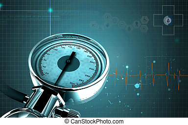 Sphygmomanometer - Digital illustration of sphygmomanometer...