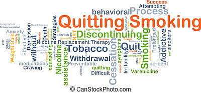 Quitting smoking background concept - Background concept...