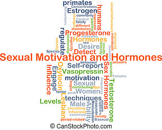 Sexual motivation and hormone background concept -...