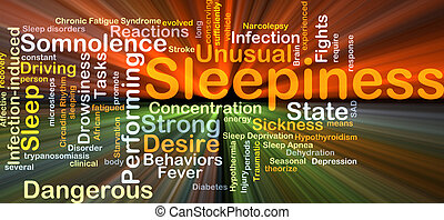 Sleepiness background concept glowing - Background concept...