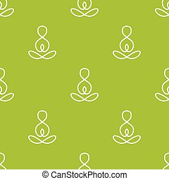 Vector minimalistic yoga sign seamless pattern - Vector...