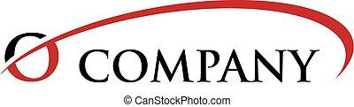 O Letter Swoosh Logo - Logo Template
