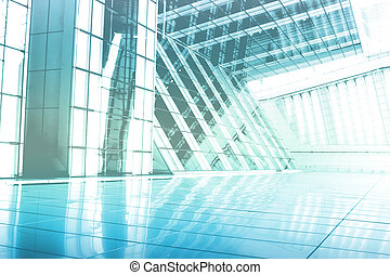 Blue Abstract Building Wallpaper