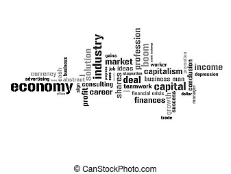 Illustration with economic terms - Illustration with...