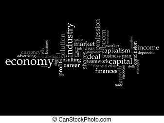 Illustration with economic terms