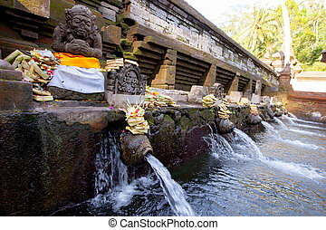 Holy Spring Water Tirta Empul Hindu Temple , Bali Indonesia