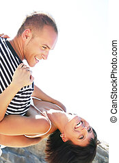 Playful young couple