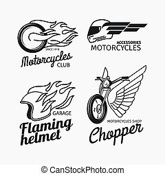 Motorcycle race logo set - Motorcycle race logo or vector...