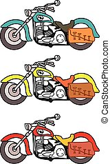 Motorbike - Vector Illustration of Harley Davidson Motor...