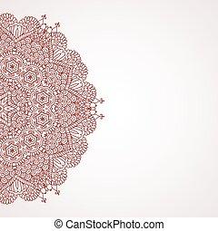 Mehndi henna design background
